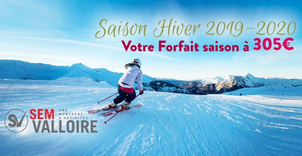 Winter 2019-2020: Buy your skipass at 305 € !