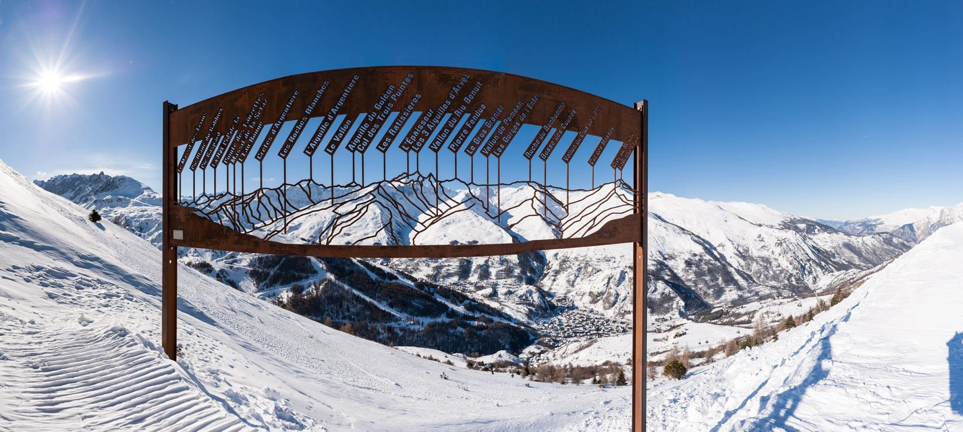 Panorama des sommets de Valloire