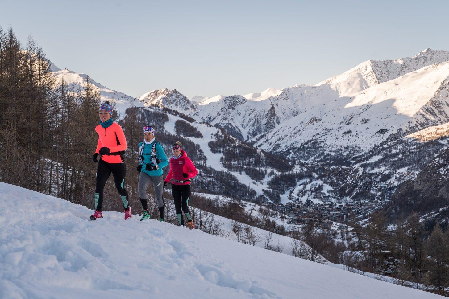 trail en hiver à Valloire avec rando montagne