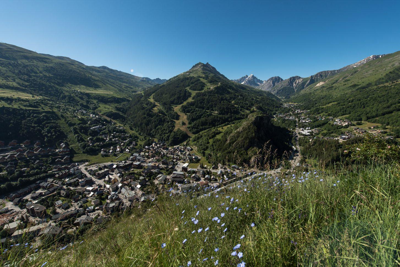 Valloire - été 2020 vue sur le massif de la Sétaz